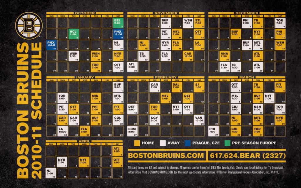 49 Bruins Schedule Wallpaper On WallpaperSafari