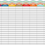Blank Weekly Calendar 15 Minute Increments Example