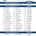 Central Time Week 3 NFL Schedule 2016 Printable