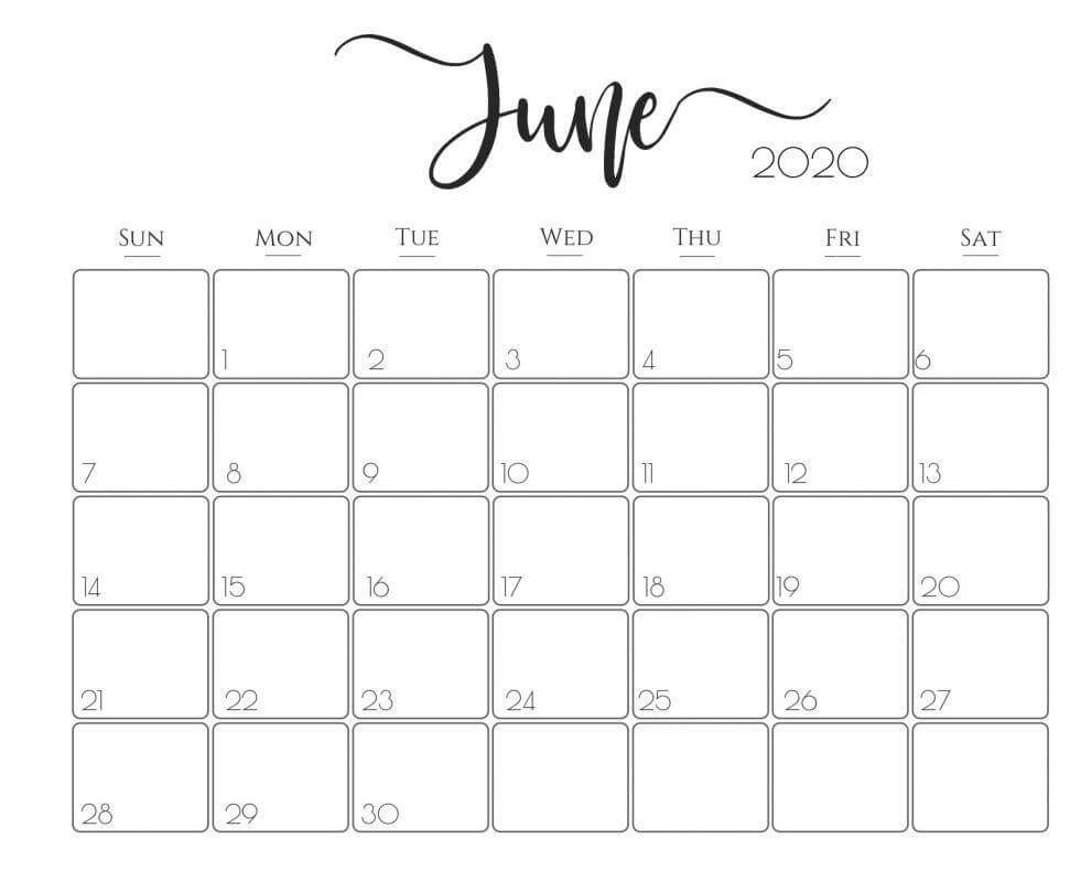 Cute June 2020 Calendar In 2020 2020 Calendar Template