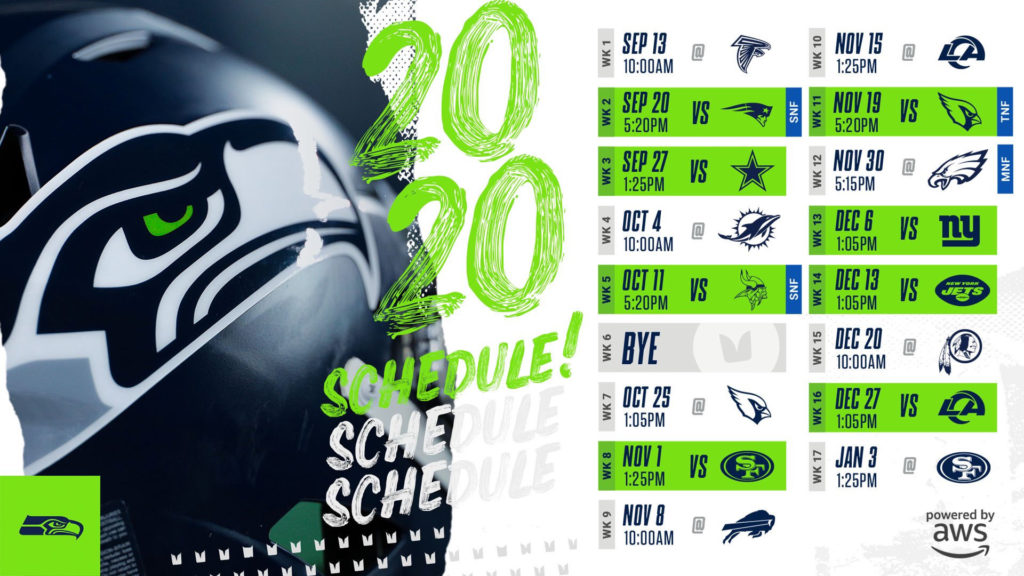 Free Download Seahawks 2020 Schedule Wallpaper Imgur