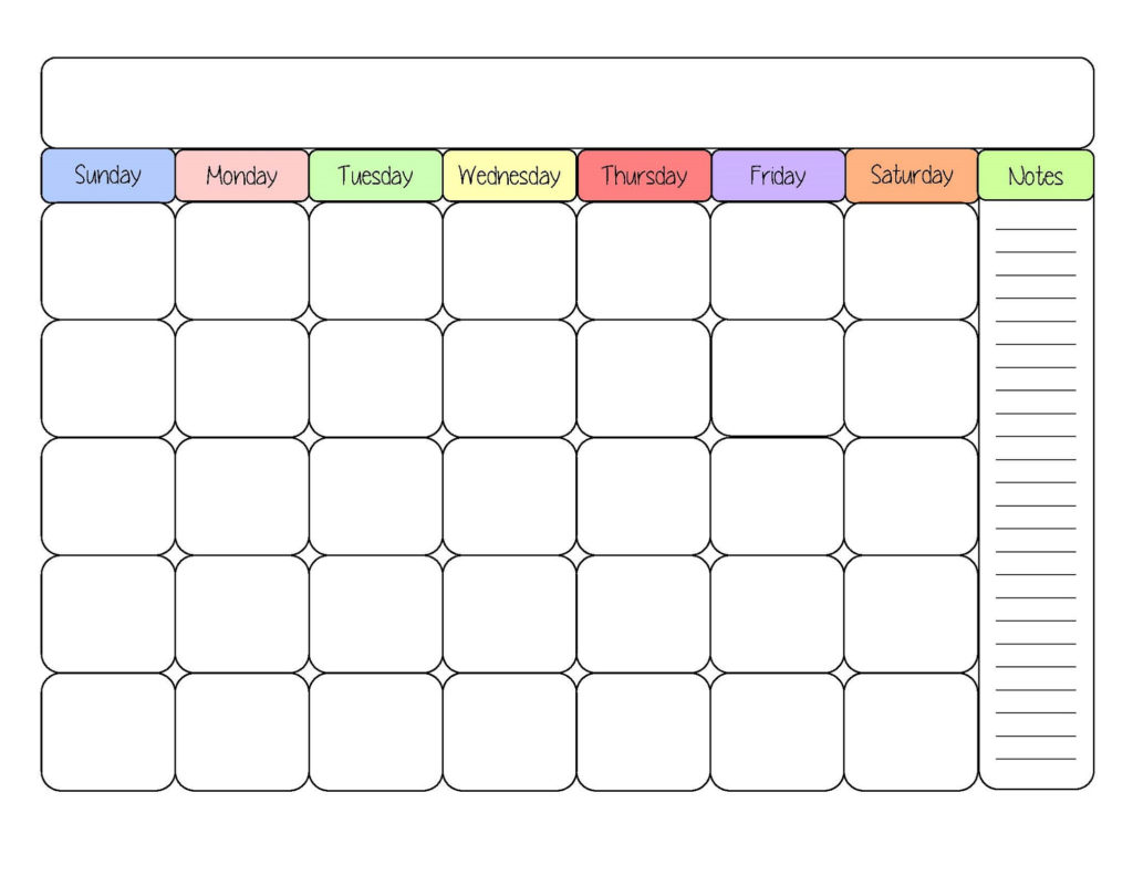 Free Printable Calendar Templates Activity Shelter