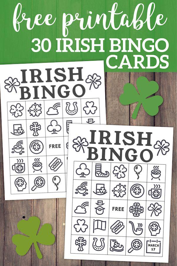 Free Printable St Patrick s Day Bingo Cards Free