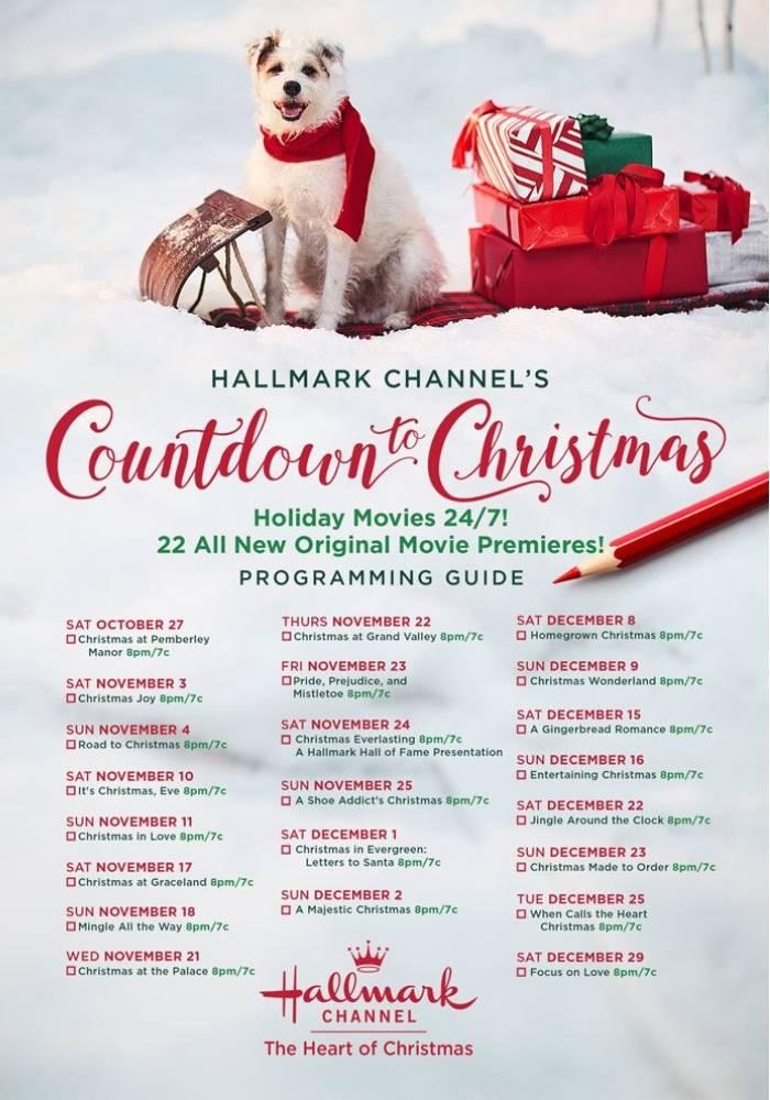 Hallmark Channel Countdown To Christmas Schedule 2018