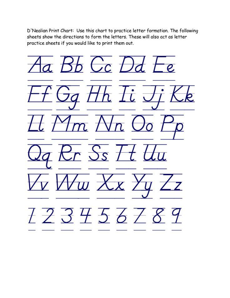 Handwriting Practice Worksheets D nealian Handwriting