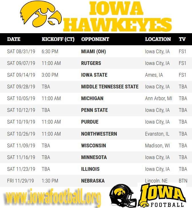 Iowa Football Live Stream Iowa Hawkeyes TV Schedule