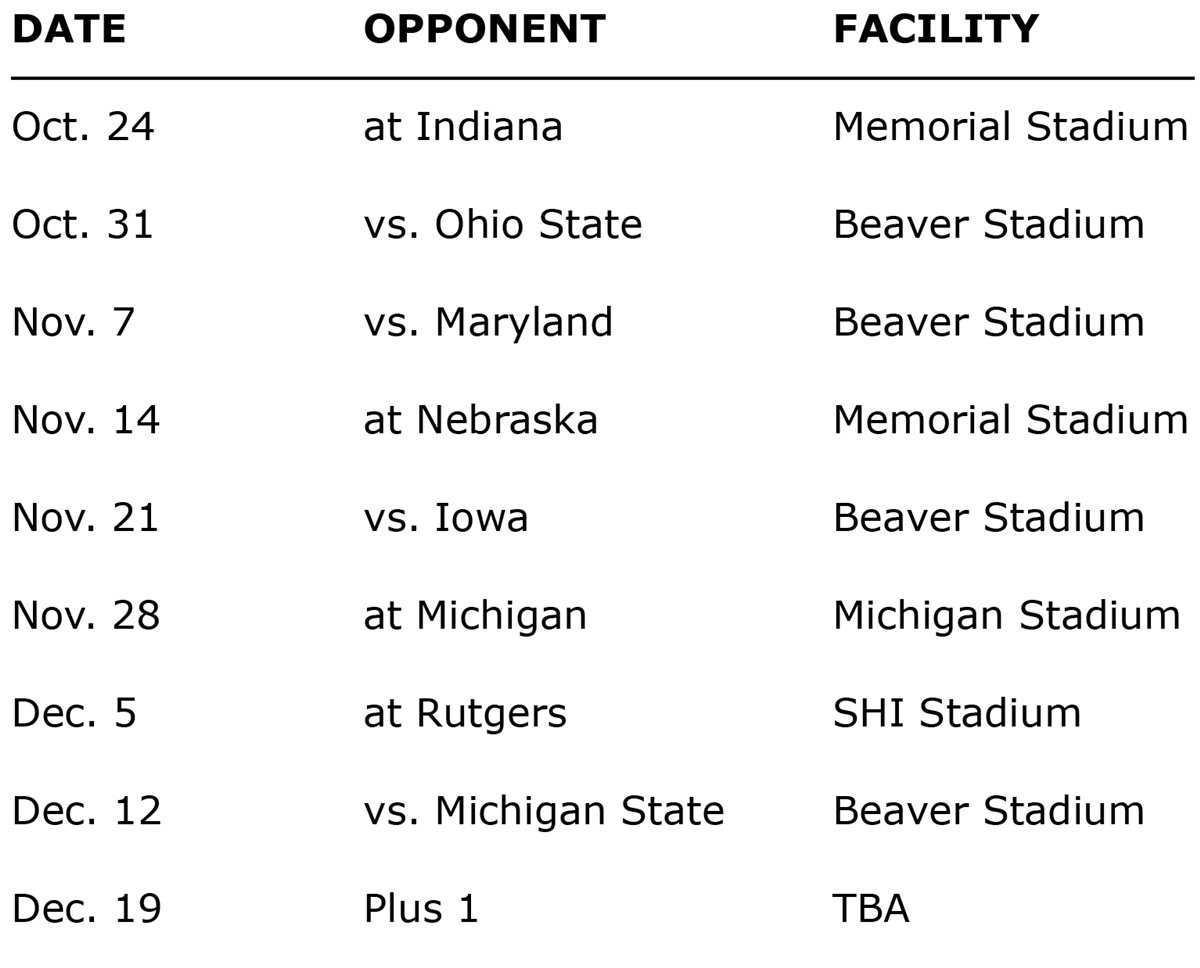 Penn State Calendar Fall 2021