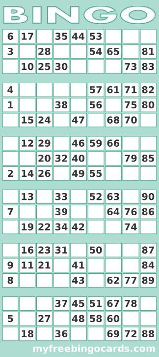 Printable 1 90 UK Bingo Card Generator Free Printable
