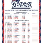 Printable 2019 2020 New England Patriots Schedule