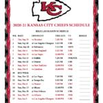 Printable 2020 2021 Kansas City Chiefs Schedule Chiefs