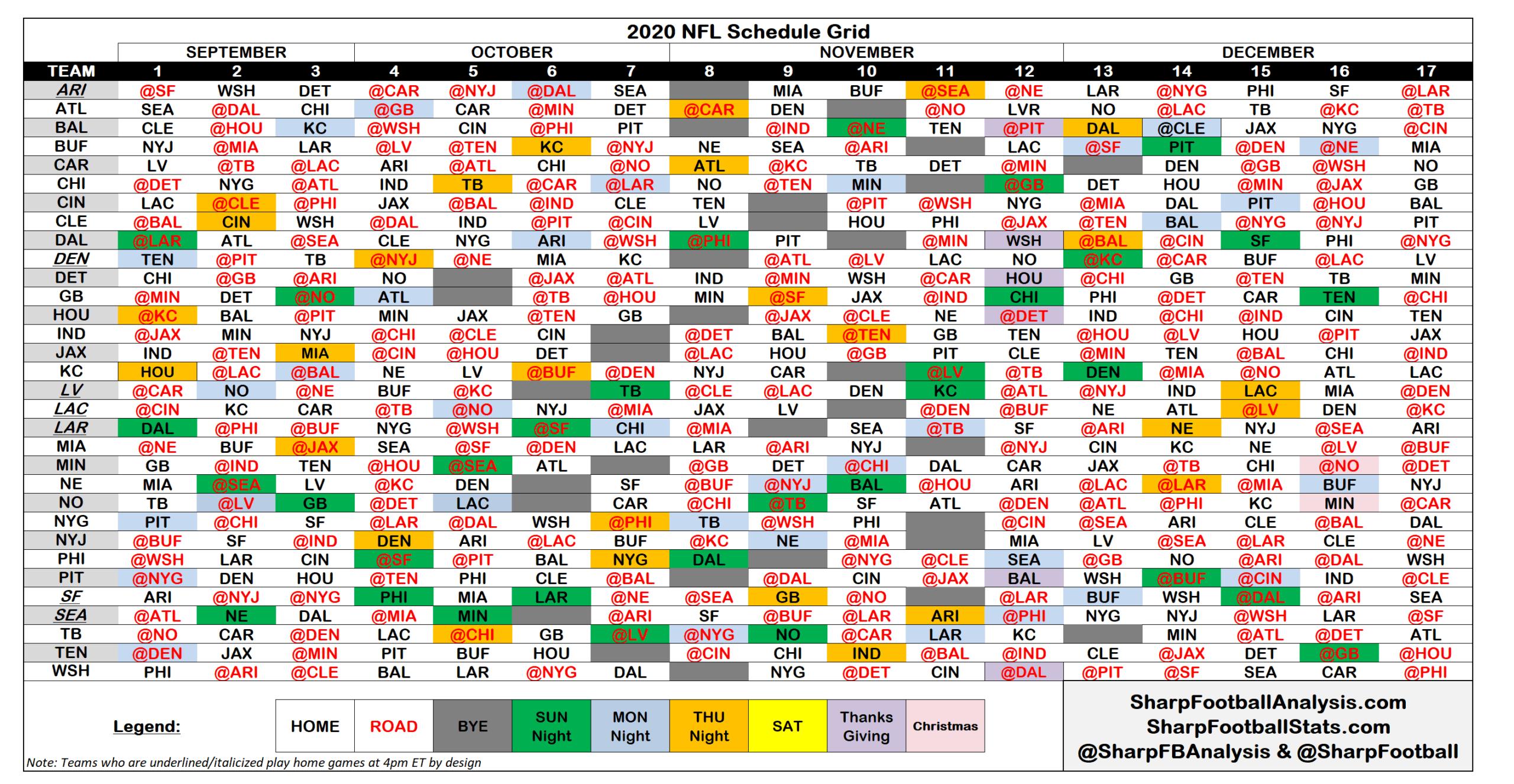 Printable 2021 2021 Nfl Schedule Calendar Printables
