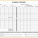 Printable Blank Bi Weekly Employee Schedule Free