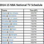 Printable NBA TV Schedule 2014 15 PrinterFriendly