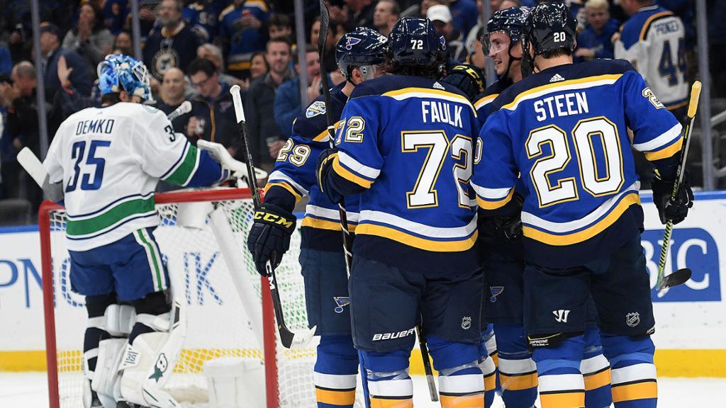 Round 1 Schedule Blues Vs Canucks NHL