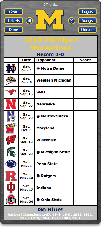 University Of Michigan Football Schedule 2021 Printable